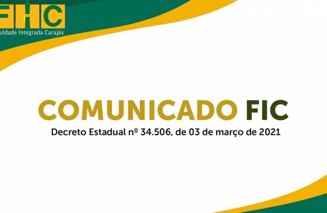 Comunicado FIC: Decreto nº 34506 de 03 de março de 2021