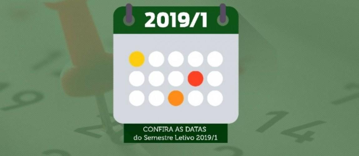 Confira o Calendário Acadêmico para o primeiro semestre de 2019