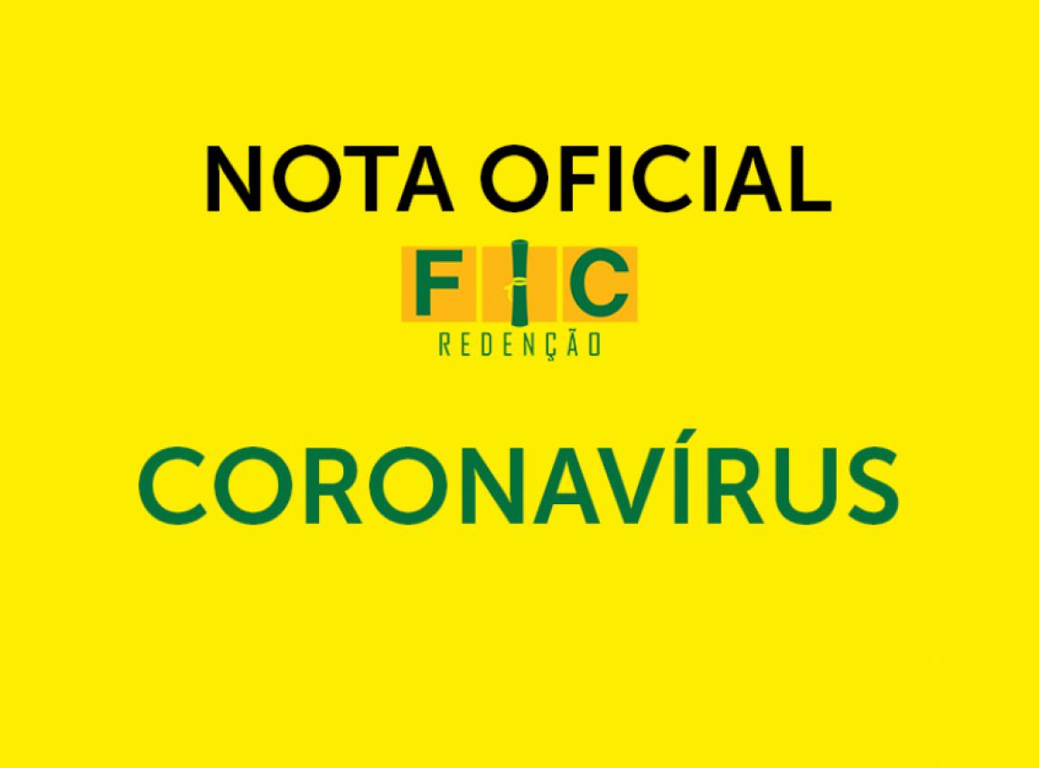 Coronavírus: Comunicado Importante